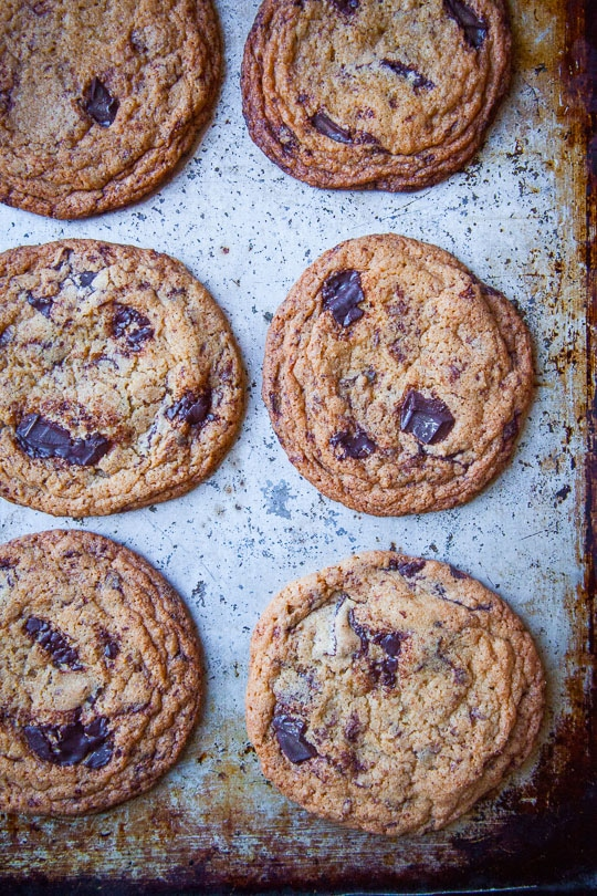 Crispy Chocolate Chip Cookies Recipe by Irvin Lin of Eat the Love.