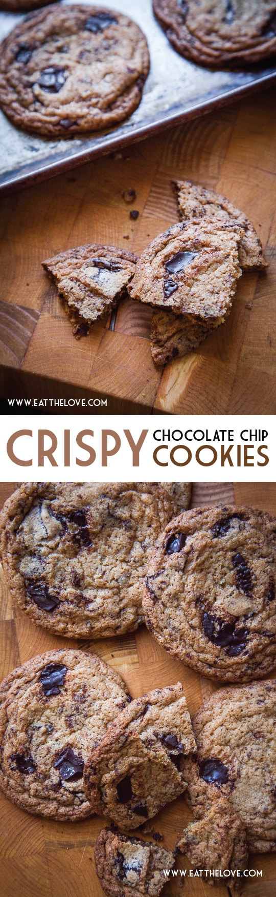The Perfect Crispy Chocolate Chip Cookies Recipe by Irvin Lin of Eat the Love.