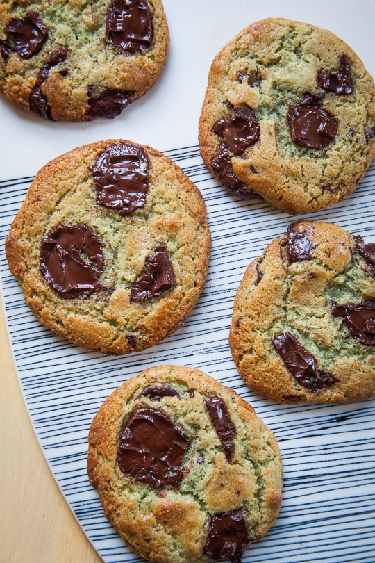 The absolute BEST Mint Chocolate Chip Cookies (it taste like a scoop of Mint Chocolate Chip Ice Cream!) Recipe and photo by Irvin of Eat the Love