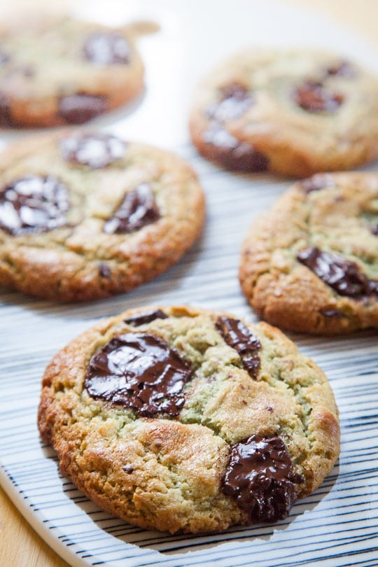 Mint Chocolate Chip Cookies that taste like the best scoop of Mint Chocolate Chip Ice Cream! Recipe and photo by Irvin of Eat the Love