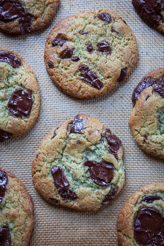Mint Chocolate Chip Cookie recipe that taste like the best scoop of Mint Chocolate Chip Ice Cream! Recipe and photo by Irvin of Eat the Love