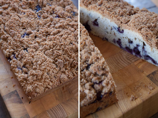Earl Grey Blueberry Coffee Cake. A recipe by Irvin Lin of Eat the Love.