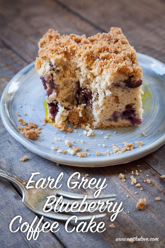 Earl Grey Blueberry Coffee Cake