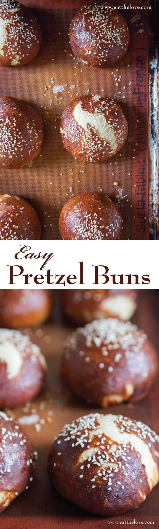 Easy to make Pretzel Buns. Photo and recipe by Irvin Lin of Eat the Love.