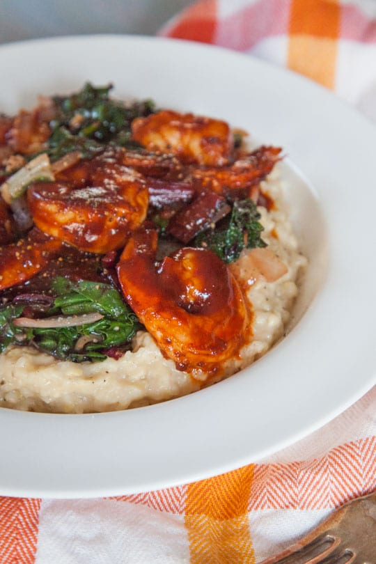 BBQ Shrimp and Grits Recipe. By Irvin Lin of Eat the Love.