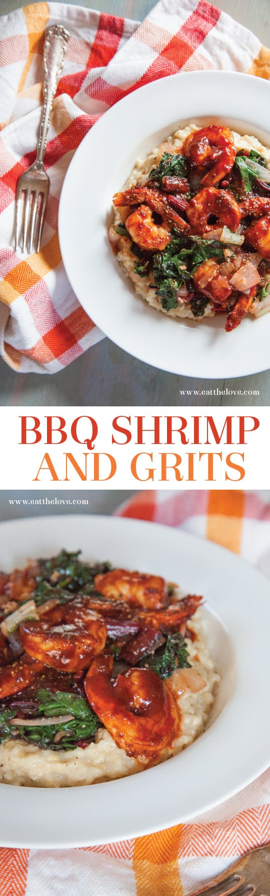 BBQ Shrimp and Grits. By Irvin Lin of Eat the Love.