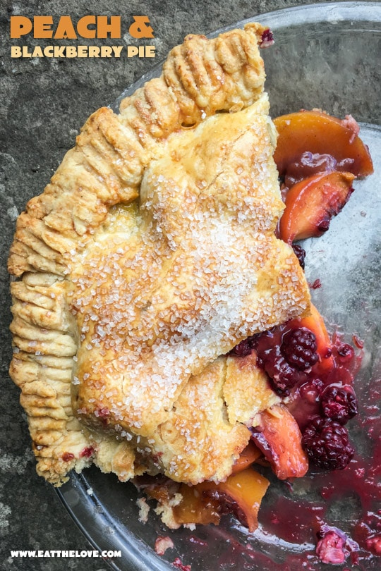 Peach and Blackberry Pie. Photo and recipe by Irvin Lin of Eat the Love.
