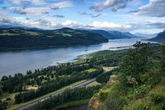 The view of the Columbia River