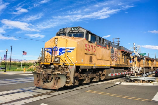 Trains at The Dalles