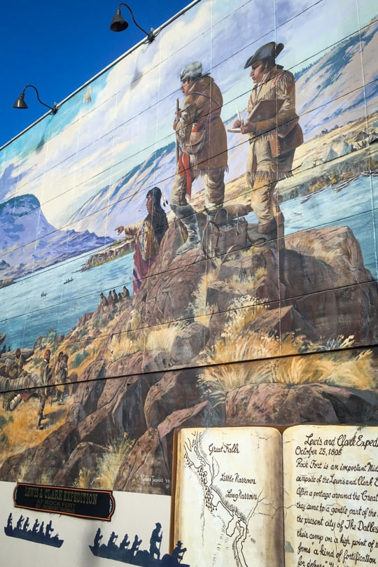 Lewis and Clark Mural in The Dalles