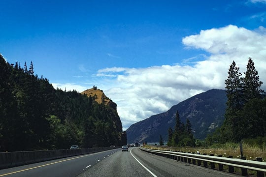 Driving to the Historic Columbia River Highway
