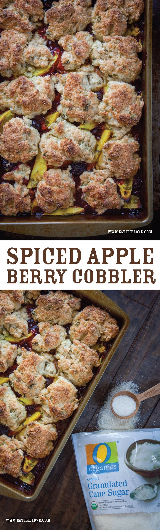 Spicy Apple Berry Cobbler by Irvin Lin of Eat the Love.