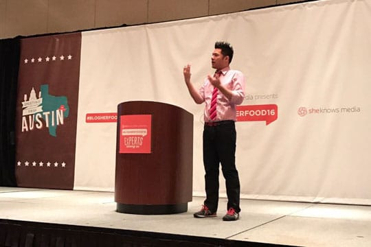 Irvin at BlogHer Food 2016. Photo by BlogHer