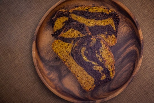 Marbled Pumpkin Chocolate Bread. Photo by Irvin Lin of Eat the Love.
