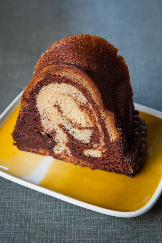 A stunning and easy to make Marble Rum Cake using 3 types of rum! Photo and recipe by Irvin Lin, author of the cookbook Marbled, Swirled and Layered