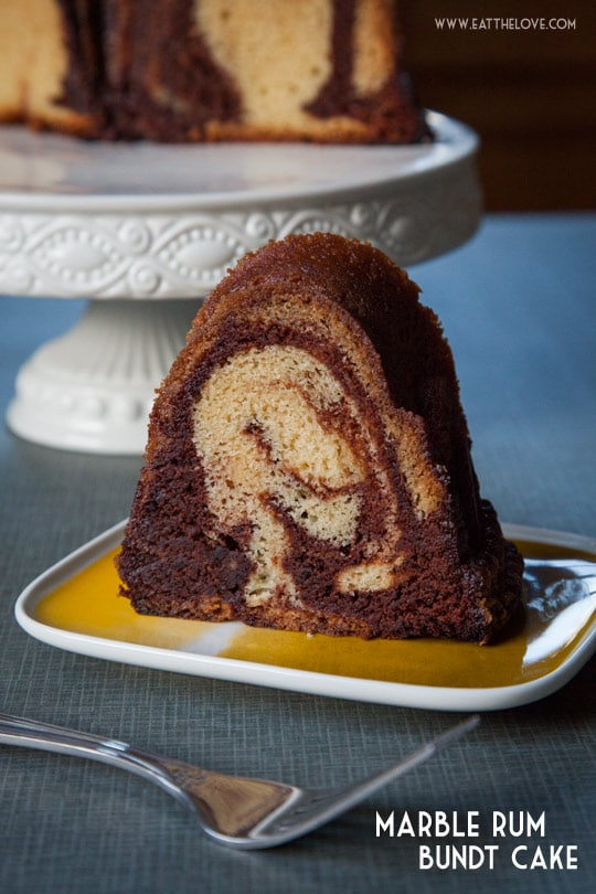 This Marble Rum Cake is easy to make and packed full of rum flavor because I use 3 types of rum! Photo and recipe by Irvin Lin of Eat the Love, author of the cookbook Marbled, Swirled and Layered