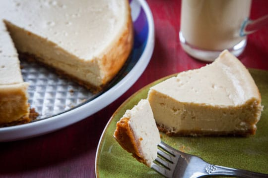 Eggnog Cheesecake with Gingersnap Crust by Irvin Lin of Eat the Love.