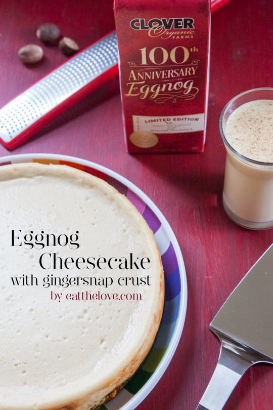 Eggnog Cheesecake with Gingersnap Crust [Sponsored Post]