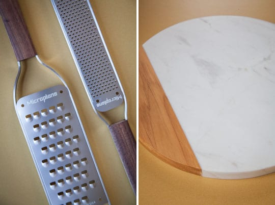 Microplane Graters and Anolon's Cheeseboard