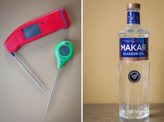 Thermoworks Thermapen and Thermapop and Makar Gin
