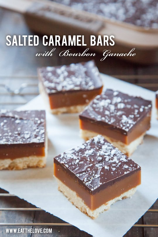 Salted Caramel Bars with Bourbon Ganache by Irvin Lin of Eat the Love.