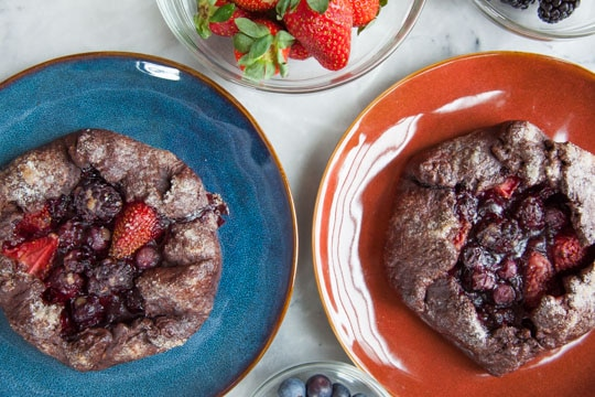 Mixed Berry Galette with Chocolate Crust by Irvin Lin of Eat the Love.