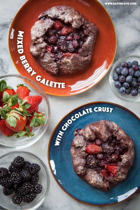 Mixed Berry Galette with Chocolate Crust [Sponsored Post]