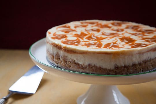 Carrot Honey Cheesecake with Almond Cinnamon Crust. Photo and recipe by Irvin Lin.