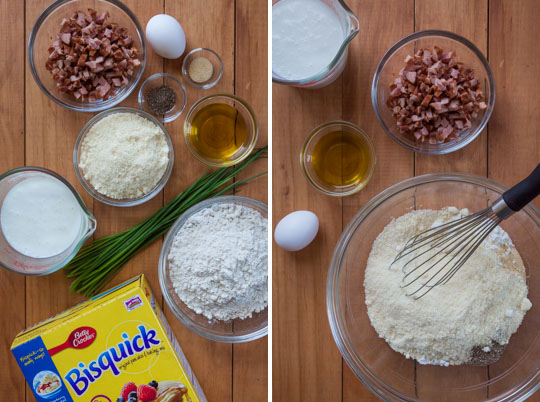 Place the dry ingredients in a bowl and use a balloon whisk to stir together until uniform in color.