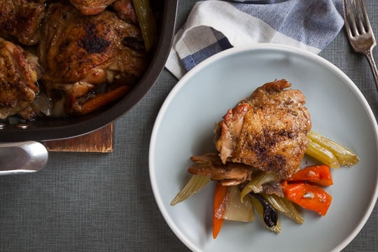 Mushroom Braised Chicken. Photo and recipe by Irvin Lin of Eat the Love.