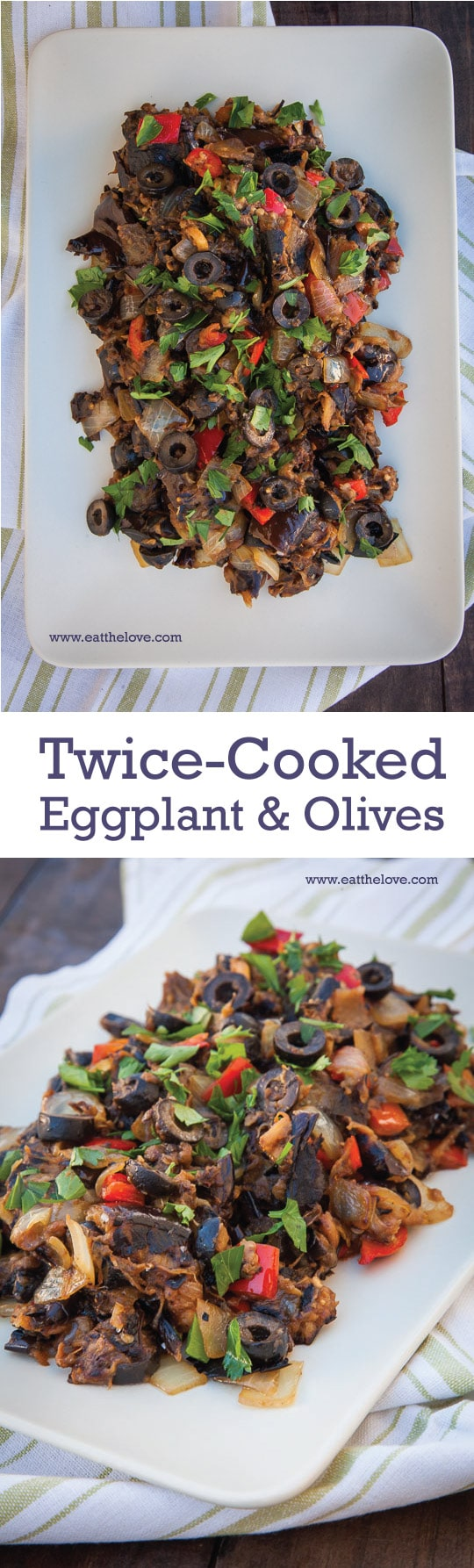 Super easy-to-make Twice Cooked Eggplant and Olives. Photo and recipe by Irvin Lin of Eat the Love.