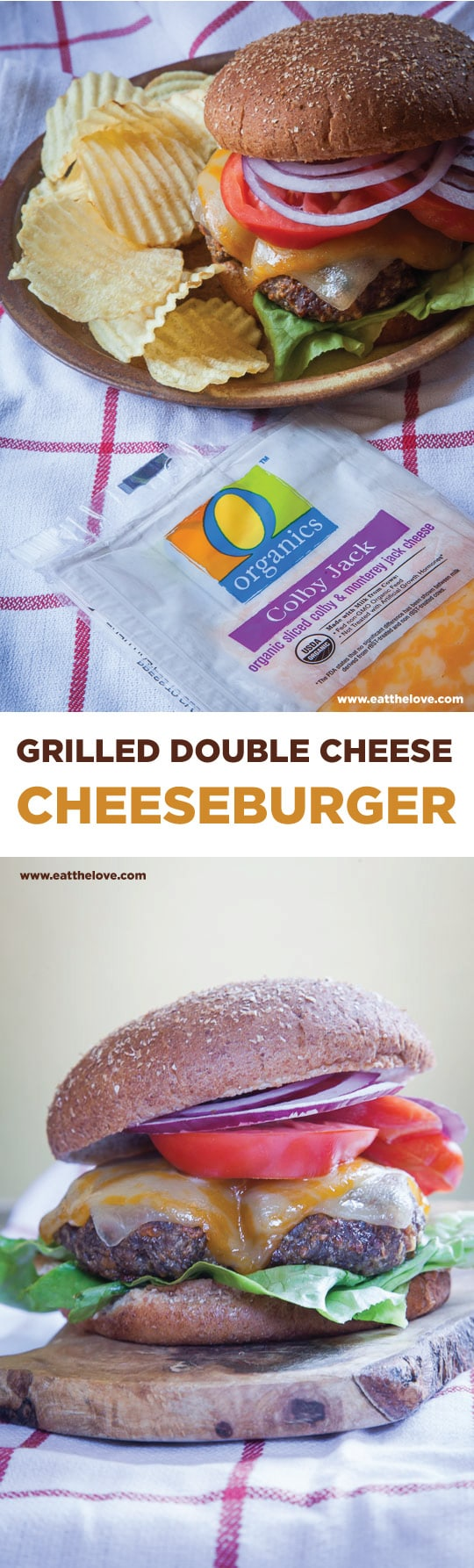 Grilled Double Cheese Cheeseburgers. Photo and recipe by Irvin Lin of Eat the Love.