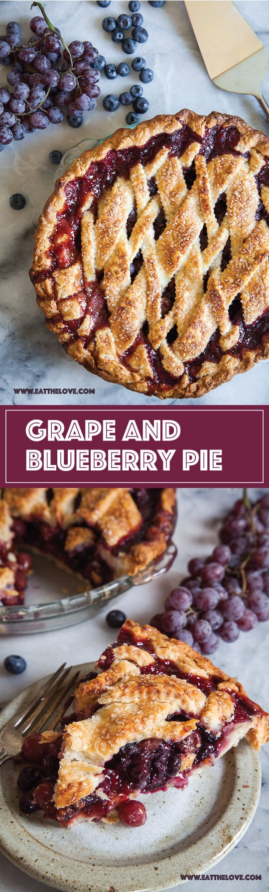 Grape and Blueberry Pie by Irvin