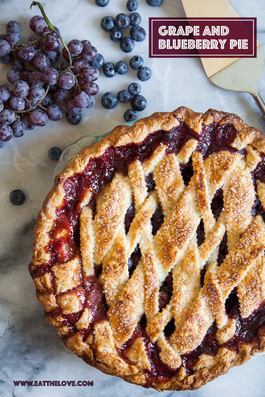 Grape and Blueberry Pie by Irvin Lin of Eat the Love.