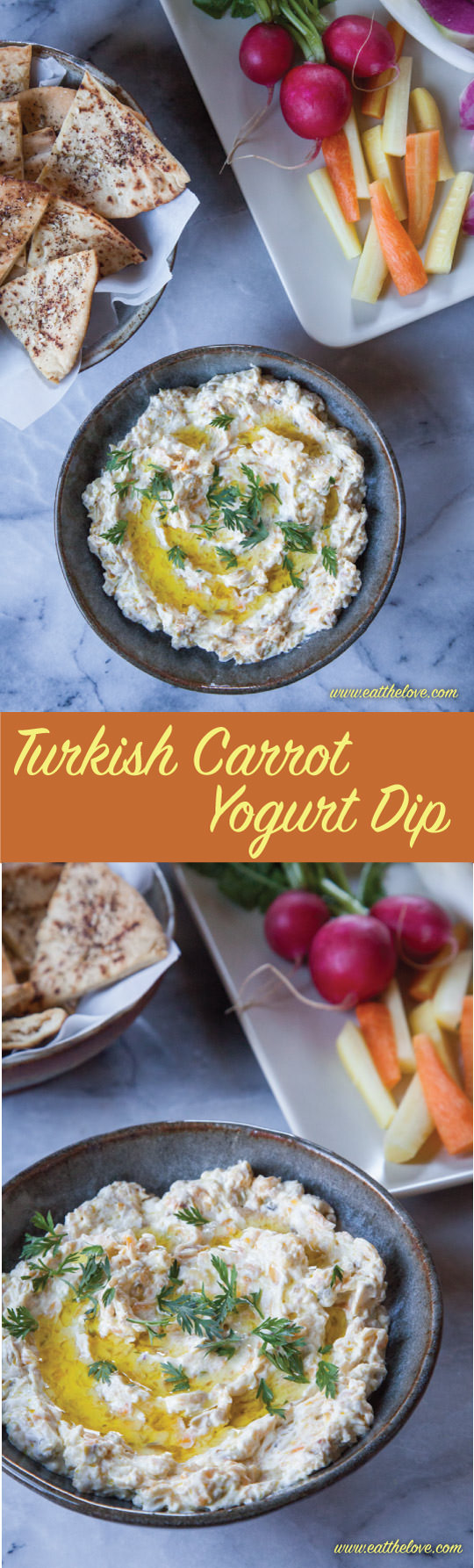 This Turkish Carrot Yogurt Dip is a great appetizer or party dish and is super easy to make!