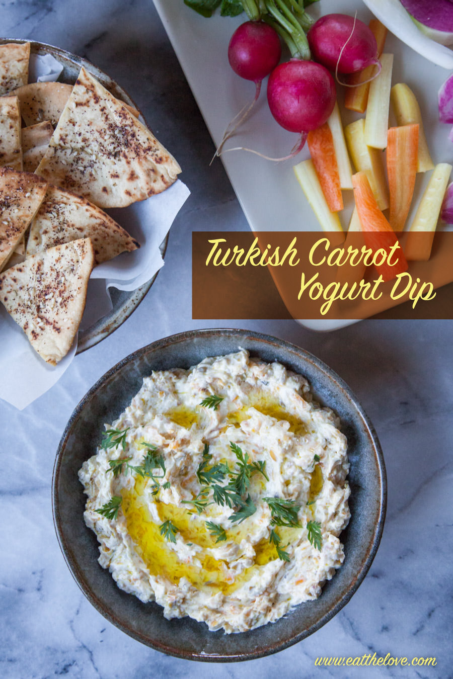Turkish Carrot Yogurt Dip. Photo and recipe by Irvin Lin of Eat the Love.