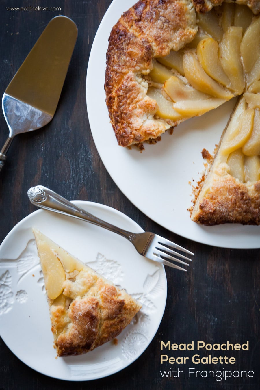 Mead Poached Pear Galette with Frangipane by Irvin Lin of Eat the Love