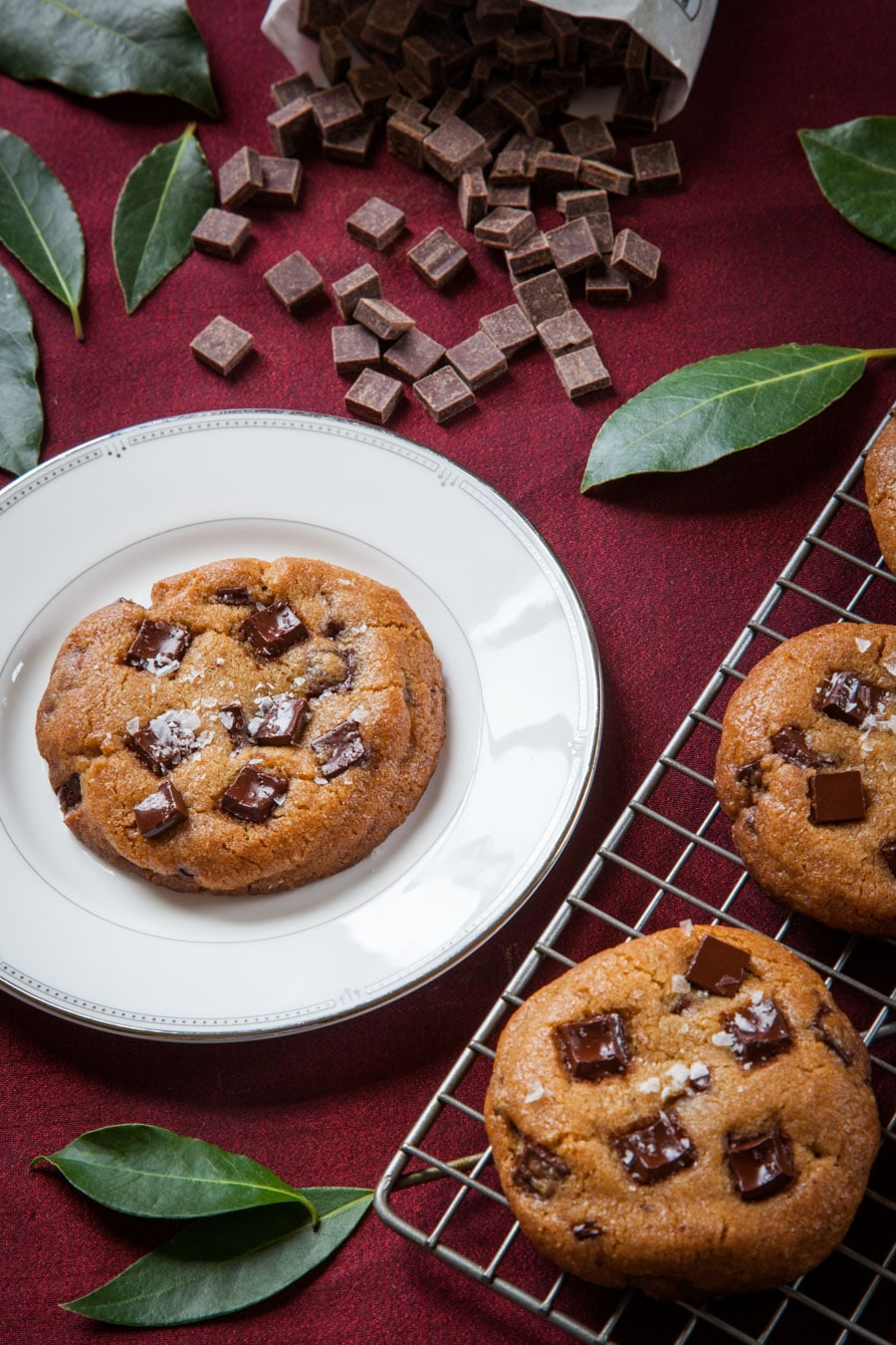 Bay Leaf, Vanilla, and Brown Butter Chocolate Chunk Cookies. Photo and recipe by Irvin Lin of Eat the Love.
