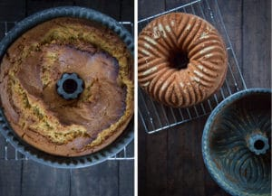 Let the cake cool in the pan for 30 to 45 minutes, then unmold while still warm.