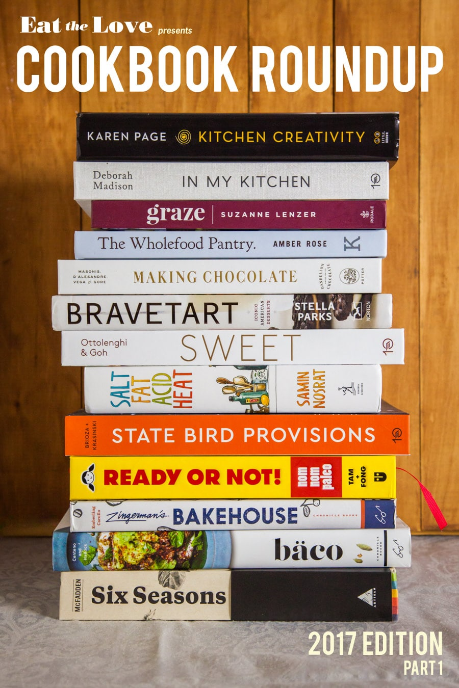 Cookbook Roundup of 2017 (part 1)