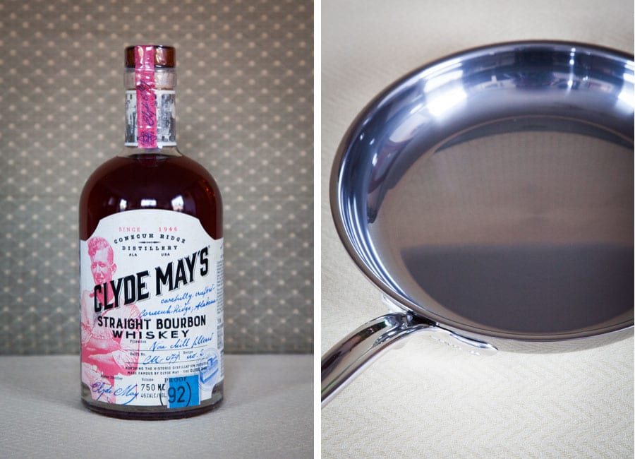 Clyde May's Whiskey Bourbon and Hestan Cookware