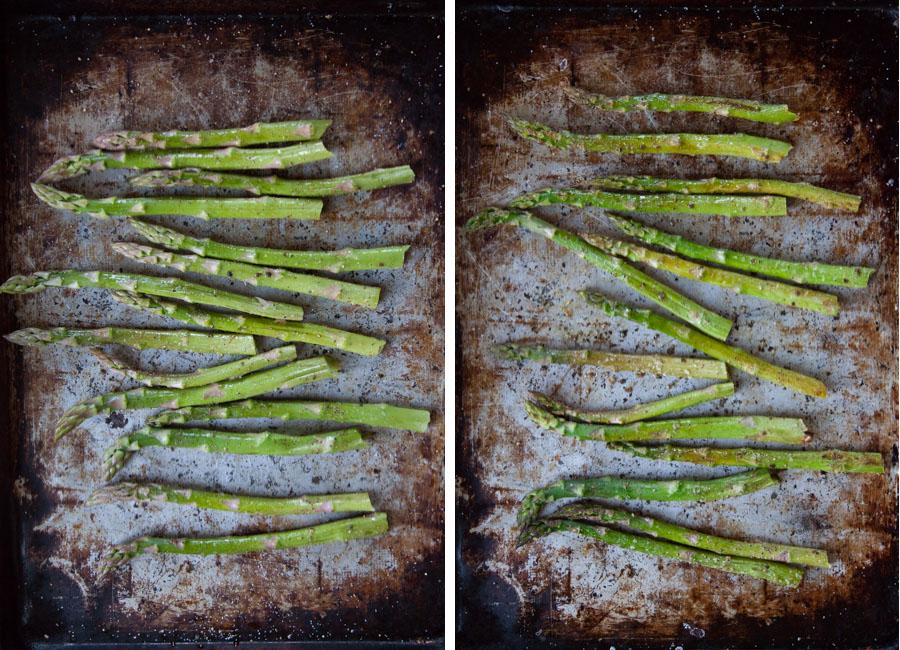 roast asparagus until tender.