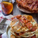 Bacon and Chives Pancakes with All-Natural Farmer John Bacon. Photo and recipe by Irvin Lin of Eat the Love.