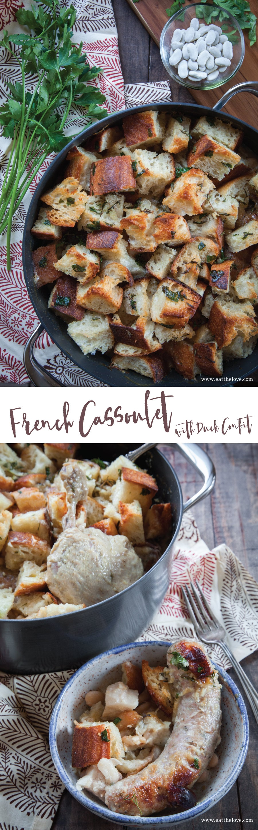 French Cassoulet with Duck Confit. Recipe and photo by Irvin Lin of Eat the Love.