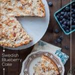 Swedish Blueberry Cake (Toscakaka aka, Tosca Blueberry Cake). Photo and recipe by Irvin Lin