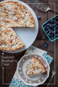 Swedish Blueberry Cake (Toscakaka aka, Tosca Blueberry Cake). Photo and recipe by Irvin Lin
