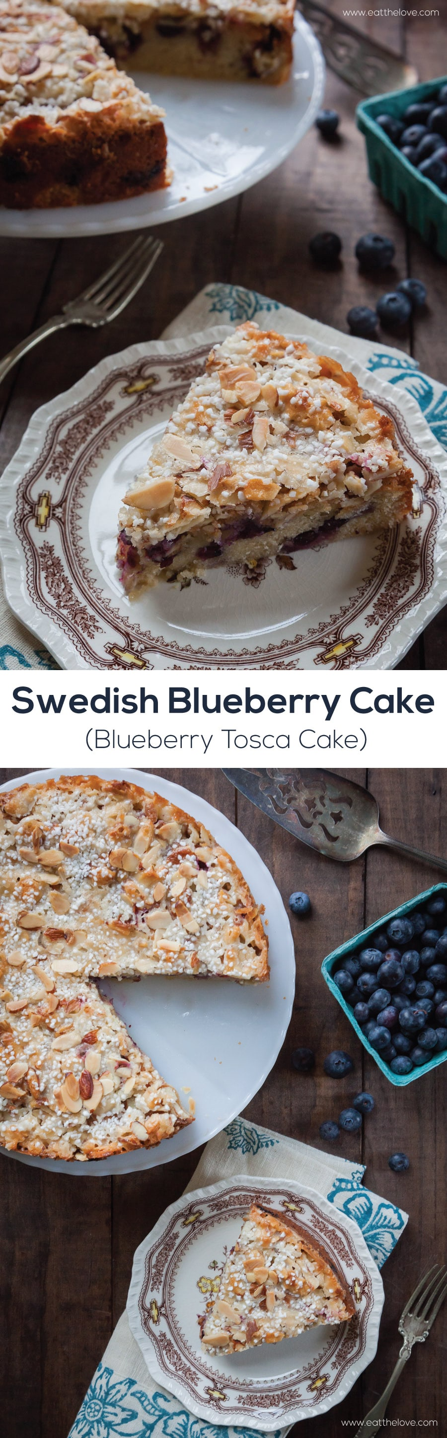 Swedish Blueberry Cake (Toscakaka aka, Blueberry Toska Cake). Photo and recipe by Irvin Lin