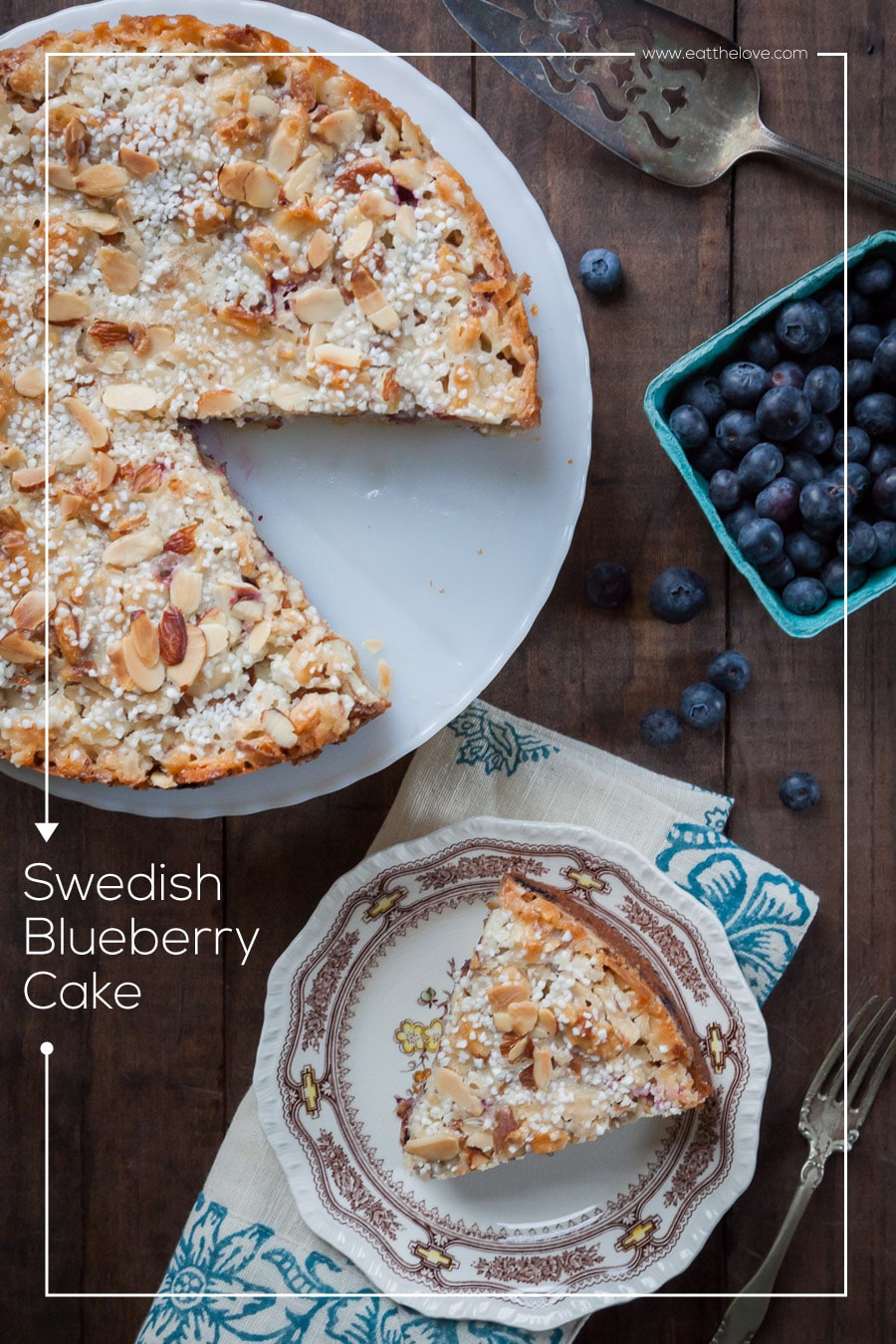 Swedish Blueberry Cake (Blueberry Tosca Cake)