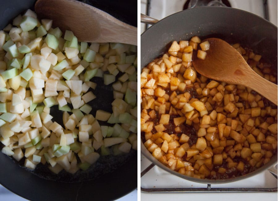 Cook apple chunks until translucent and soft, about 5 minutes.