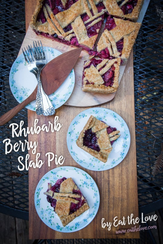 Rhubarb Berry Slab Pie [Sponsored Post]